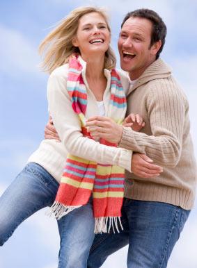 Jubilant couple