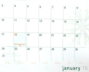 The month of January, 2010. If you started doing everything right, your hemorrhoids shouldn't last more than about six months.